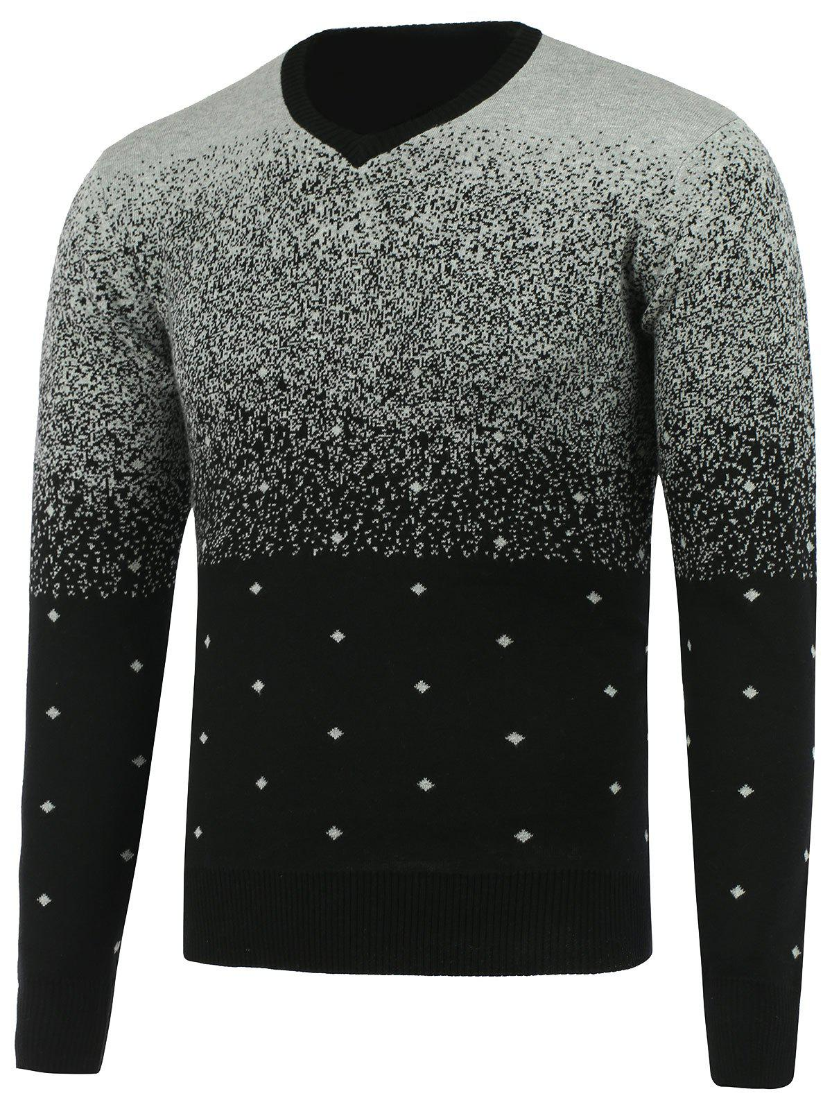 Ombra V Neck Diamond Graphic SweaterMen<br><br><br>Size: ONE SIZE<br>Color: GRAY