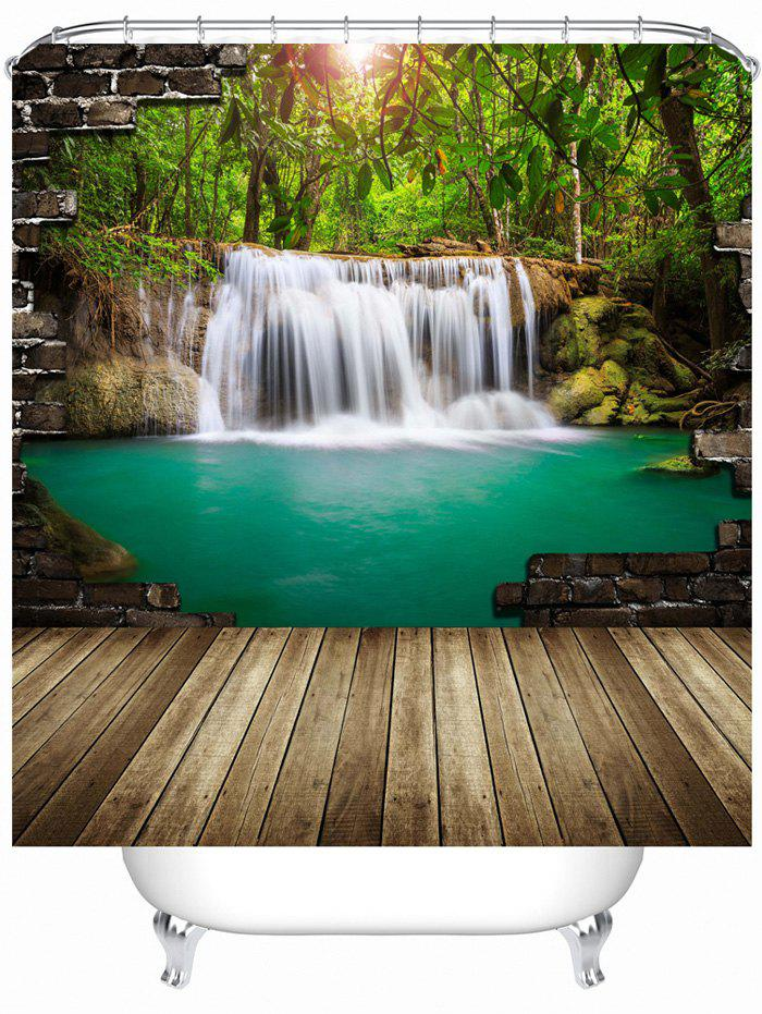 Nature Landscape Shower Curtain with Hooks landscape with figures givernyрепродукции моне 30 x 30см