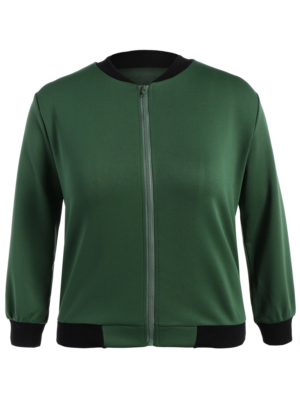 Buy Plus Size Zip Jacket ARMY GREEN