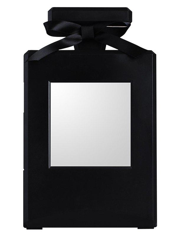 DIY Combination Dustproof Perfume Bottle Shape Jewelry Box with Mirror - BLACK