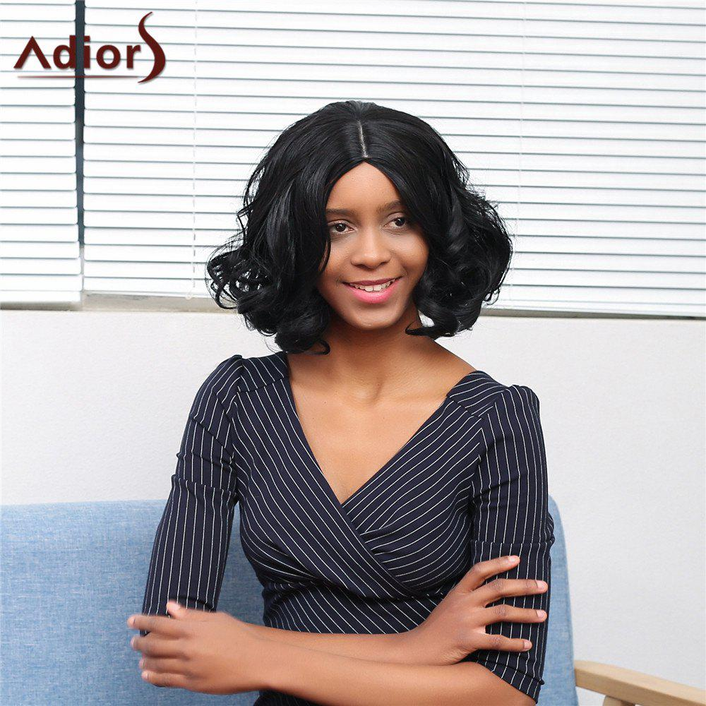 Adiors Short Wavy Centre Parting Fluffy Synthetic Wig lolita style centre parting long fashion fluffy wavy capless black ombre brown synthetic women s wig