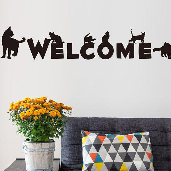Welcome Word Removable Wall Stickers - BLACK