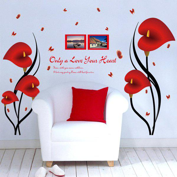 Calla Butterfly PVC Removable Wall Stickers