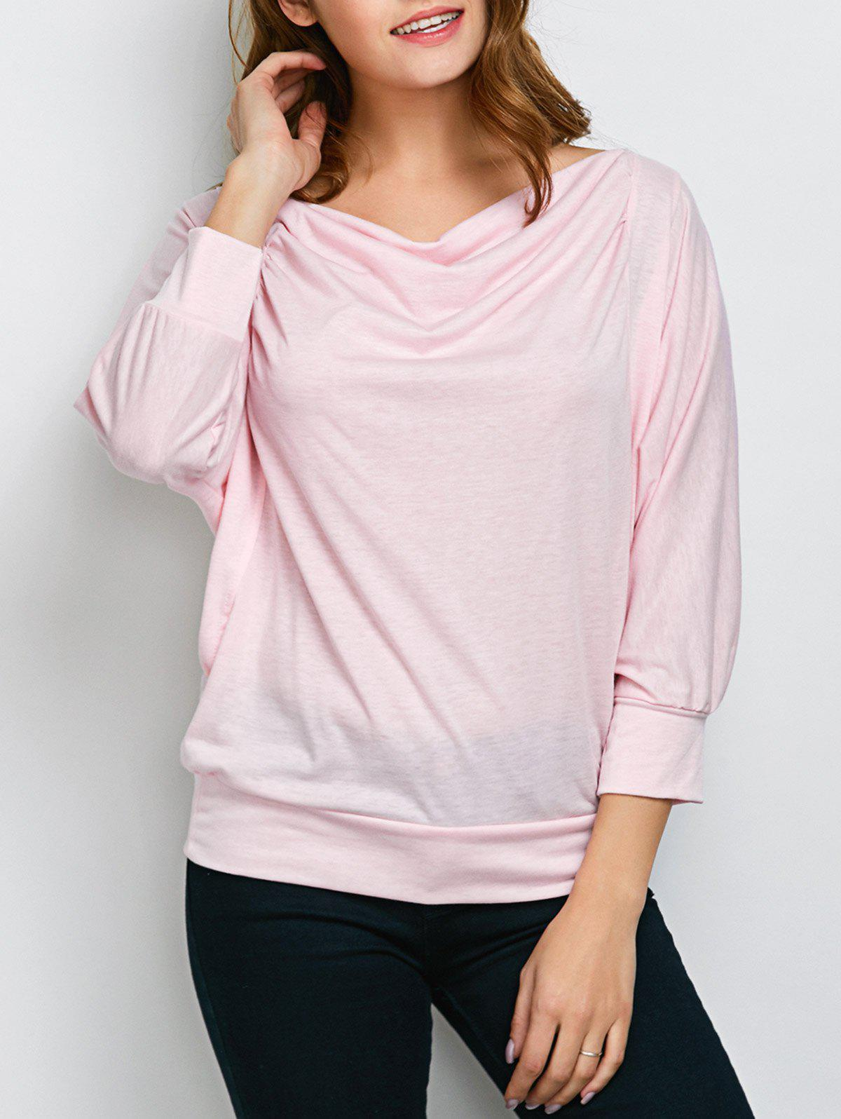 Buy Ruched Basic Tee PINK