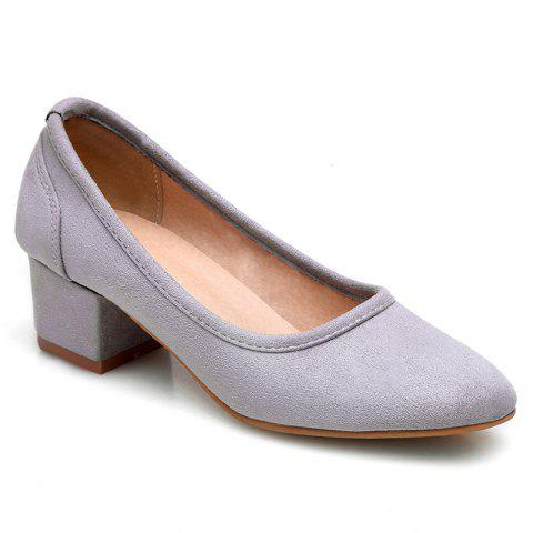 ccb4a30ce2f519 2019 Flock Square Toe Pumps In LIGHT GRAY 38