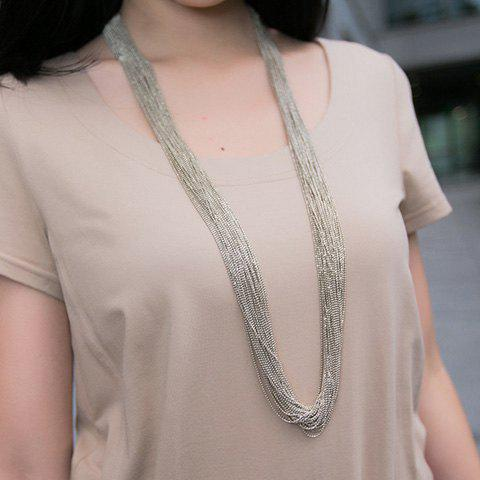 Vintage Alloy Sweater Chain - SILVER