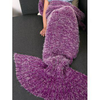 Crochet Tricoté Faux Mohair Mermaid Blanket Throw For Kids - Violet Rose