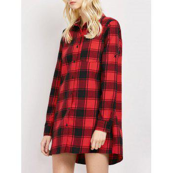 Long Checked Oversized Shirt