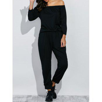 Off The Shoulder Tee with Jogger Pants