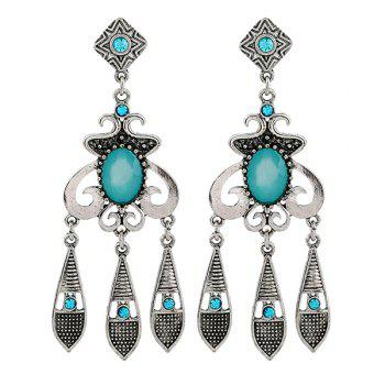 Geometric Rhinestone Water Drop Earrings