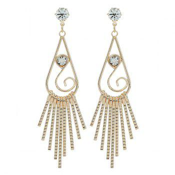 Water Drop Zircon Dangle Earrings