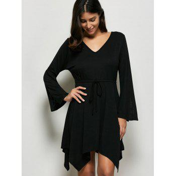 Tie Front Asymmetrical Dress - M M