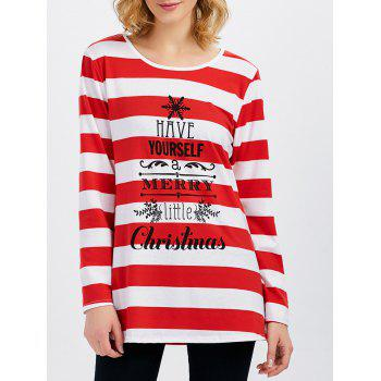 Merry Christmas Stripe Tee