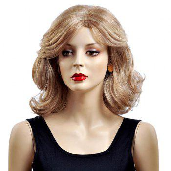 Medium Layered Side Parting Shaggy Wavy Bob Synthetic Wig