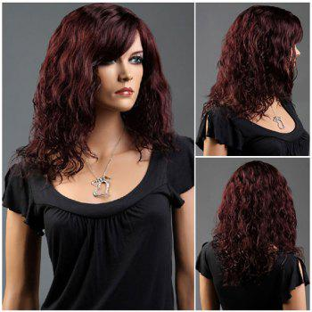 Side Bang Long Curly Fluffy Synthetic Wig