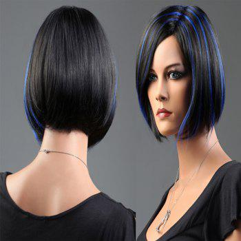 Side Parting Short Highlight Bob Silky Straight Synthetic Wig