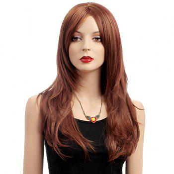 Middle Parting Long Slightly Curled Shaggy Synthetic Wig
