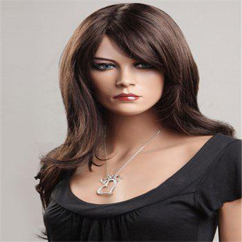 Shaggy Long Side Bang Layered Natural Wavy Synthetic Wig
