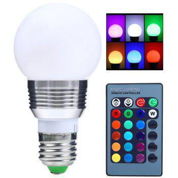 Romote Control Dimmable Colorful E27 LED Bulb Light