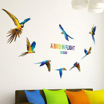 Parrot Bird DIY Removable Wall Stickers