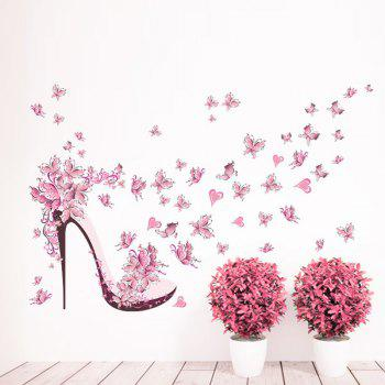High Heels Butterfly PVC Removable Wall Stickers
