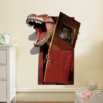 3D Dinosaur Flee PVC Removable Wall Stickers