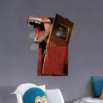 3D Dinosaur Flee PVC Removable Wall Stickers - COLORMIX