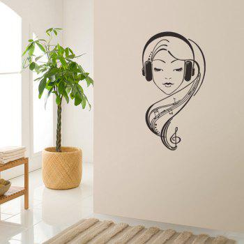 Girl Figure Room Decorative Wall Stickers