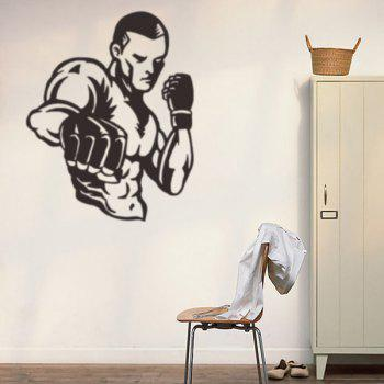 Boxer Figure Room Decorative Wall Stickers
