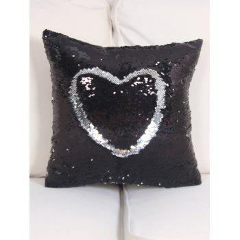 Two Tone DIY Glitter Sequins Throw Pillow Case