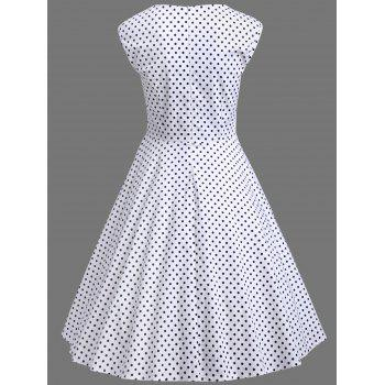 Plus Size Polka Dot A Line Dress - XL XL