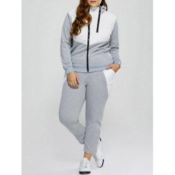 Plus Size Color Block Ninth Gym Outfits