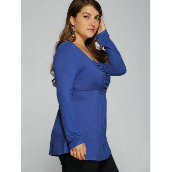 Ruched Plus Size Tunic T-Shirt - 2XL 2XL