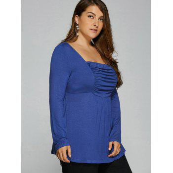 Ruched Plus Size Tunic T-Shirt - XL XL