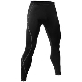 Skinny Fit Quick Dry Stitching Gym Pants