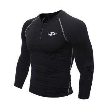 Tight Raglan Sleeve Half Zipper Cycling Jerseys