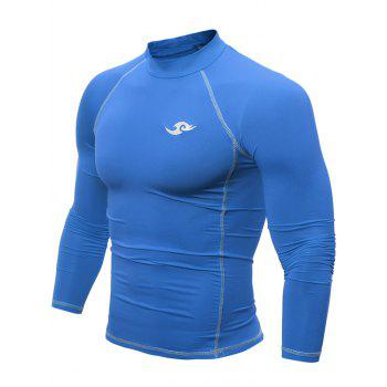 Raglan Sleeve Mock Neck Tight Cycling Jerseys