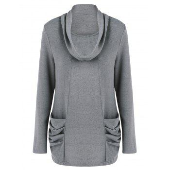 Cowl Neck Ruched Longline Knitwear