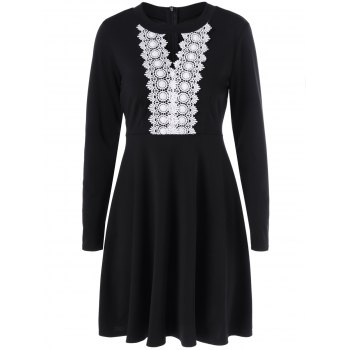 Keyhole Crochet Swing Dress