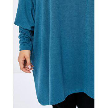 Plus Size Batwing Asymmetric Long Sleeve Tee - 2XL 2XL