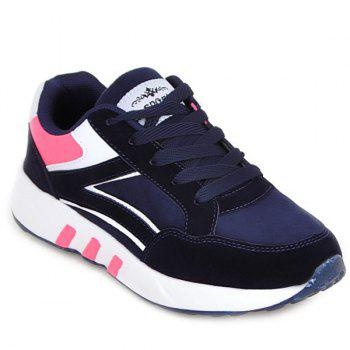 Lace Up Color Block Athletic Shoes
