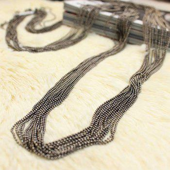 Vintage Alloy Sweater Chain - BLACK