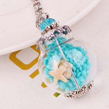 Starfish Conch Glass Ball Pendant Necklace