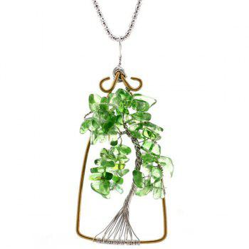 Life Tree Natural Stone Pendant Necklace