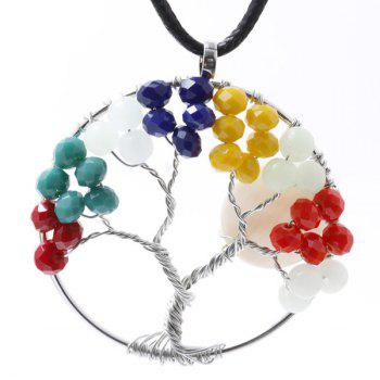Circle Life Tree Pendant Necklace