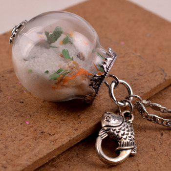 Glass Ball Fish Conch Pendant Necklace