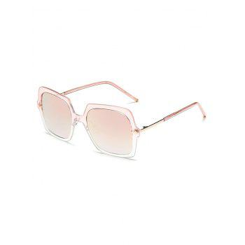 Ombre Rims Square Oversized Mirrored Sunglasses