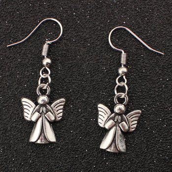 Embossed Angel Drop Earrings
