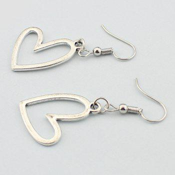 Heart Hollow Out Drop Earrings