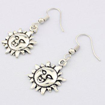 Embossed Sun Drop Earrings